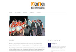website Theaterkoor BonTon Utrecht